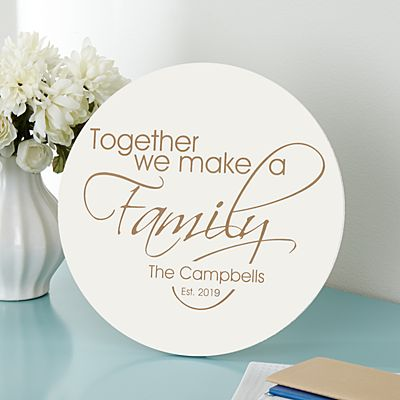 Together A Family Wood Plaque