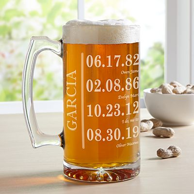 Fun Family History Oversized Beer Mug