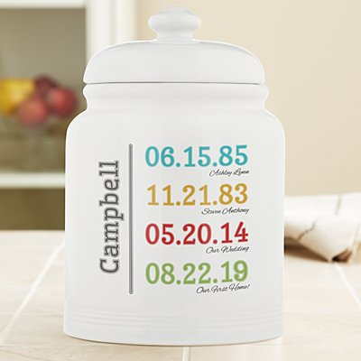 Fun Family History Cookie Jar