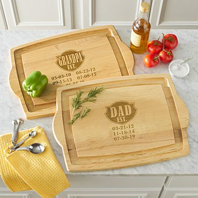 Dad Established Oversized Wood Cutting Board