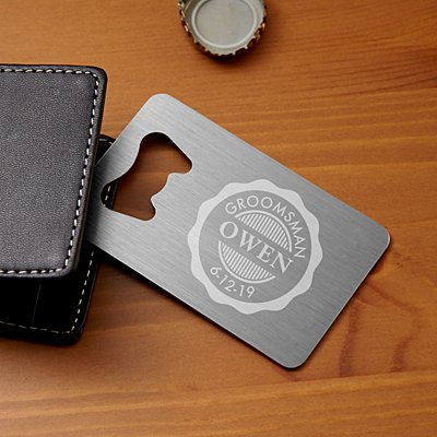 Wedding Party Wallet Bottle Opener