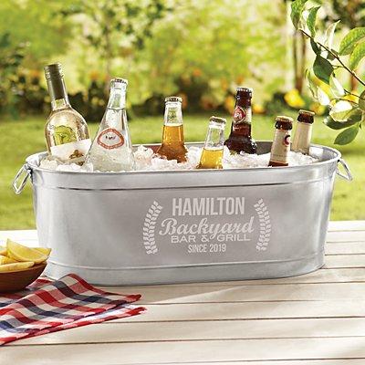 Backyard Bar Beverage Tub