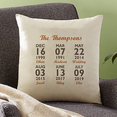 Our Best Days Throw Pillow