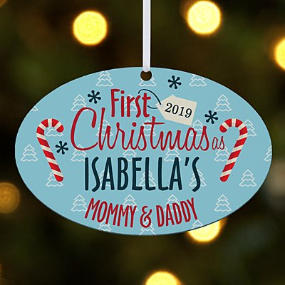 First Christmas Family Oval Ornament