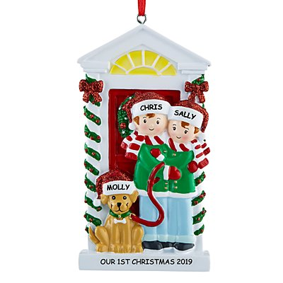 Bark the Halls Family Ornament- 2 People