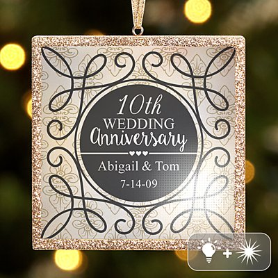 TwinkleBright® LED Anniversary Ornament