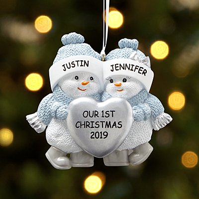 The Original Snow Buddies™ Couple Ornament