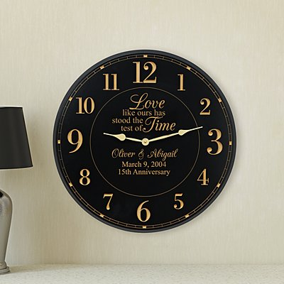 Test of Time Anniversary Wall Clock