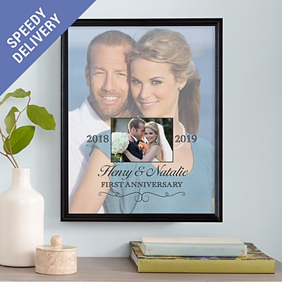 Then & Now Photo Anniversary Canvas