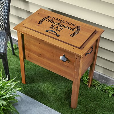 Backyard Bar Wooden Beverage Cooler