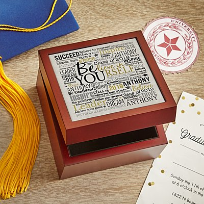 Believe in Yourself Keepsake Tile Box