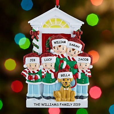 Bark the Halls Family Ornament