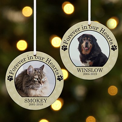 Pet Memorial Photo Round Ornament