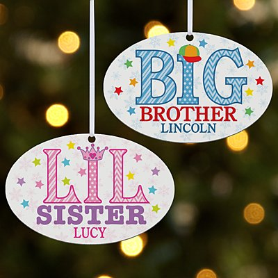 Special Sibling Oval Bauble