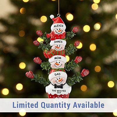 Stackable Snowman Family Ornament