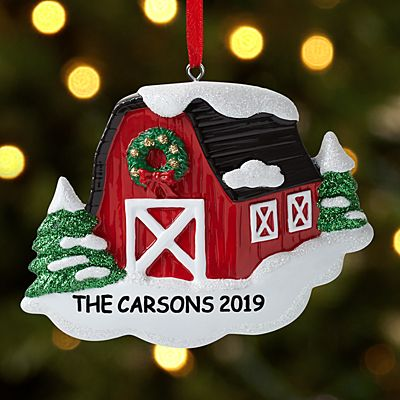 Winter Barn Ornament