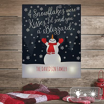 TwinkleBright® LED Snowflake Kisses Canvas