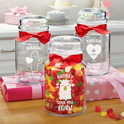 Sweet On You Glass Candy Jars
