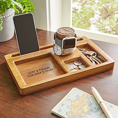 Wood Watch Tower Organizer