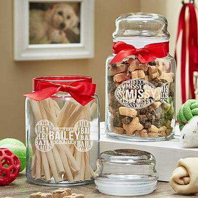 Christmas Pet Treat Jar