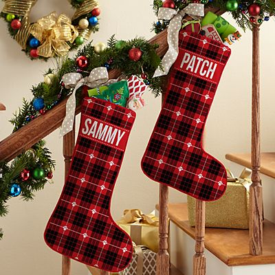 Christmas Plaid Pet Stocking