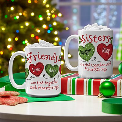 Christmas Sisters & Friends Heartstrings Mug