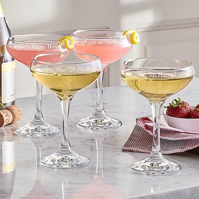 Create Your Own Cocktail Coupe Set