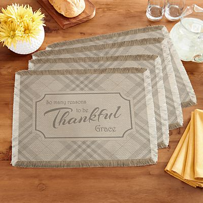 Reasons To Be Thankful Placemats