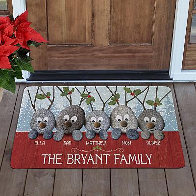 Reindeer Rocks Family Doormat