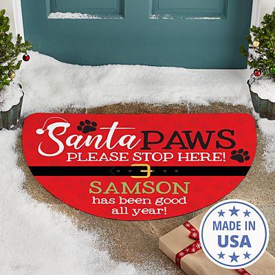 Santa Paws Stop Here Doormat
