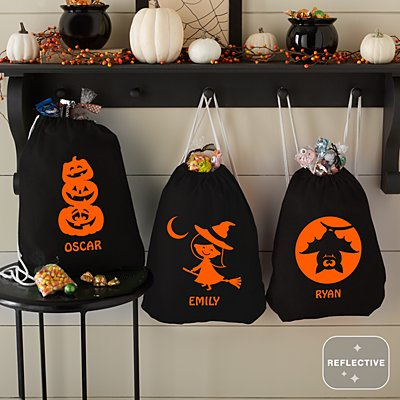 Say Boo! Reflective Treat Bags