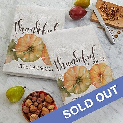 Thankful For Us Tea Towel