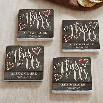 This is Us Holiday Coasters