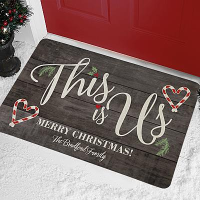 This is Us Holiday Doormat
