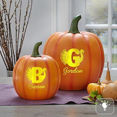 Light-Up Turkey Pumpkin