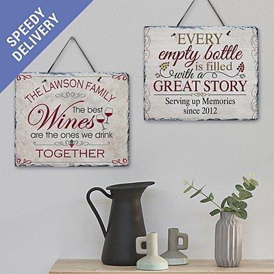 Wine Lovers Slate Sign