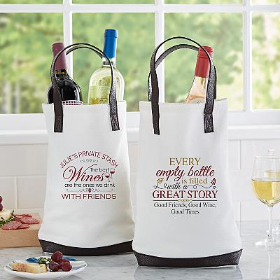 Wine Lovers Two Bottle Wine Tote