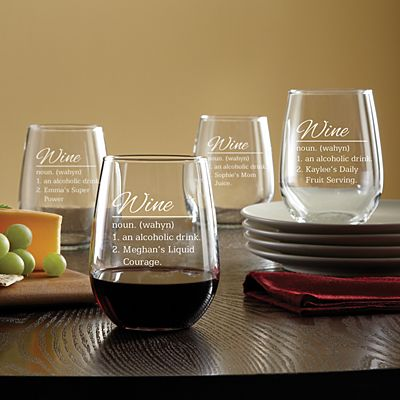 Wine Defined Stemless Glass