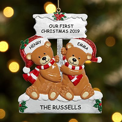 Cozy Bear Couple Ornament