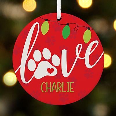Pet Love Round Ornament