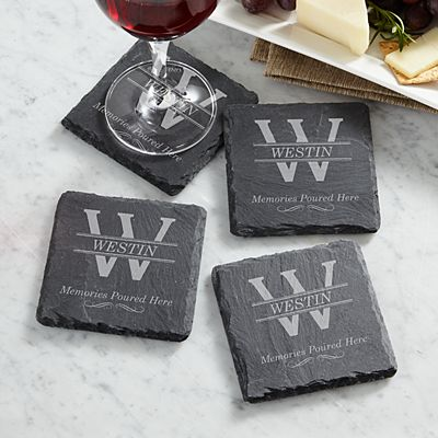 Memories Poured Slate Coasters