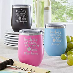 Apples Alone Insulated Wine Tumbler