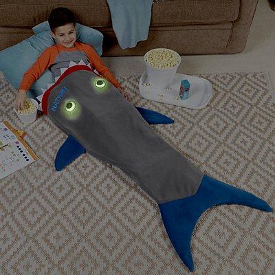 Blankie Tails Glow In The Dark Shark Blanket