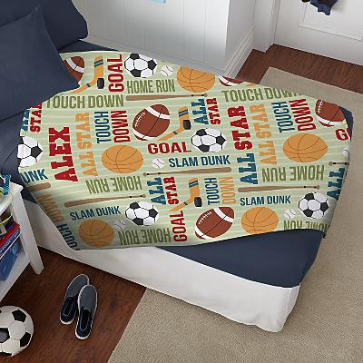 Boys' Sleepy-Time Plush Blanket
