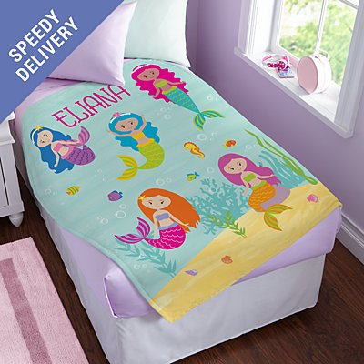 Girls' Sleepy-Time Plush Blanket