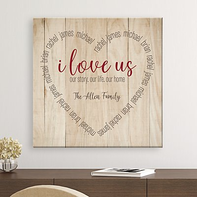 I Love Us Heart Canvas
