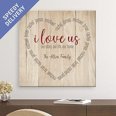 I Love Us Heart Canvas
