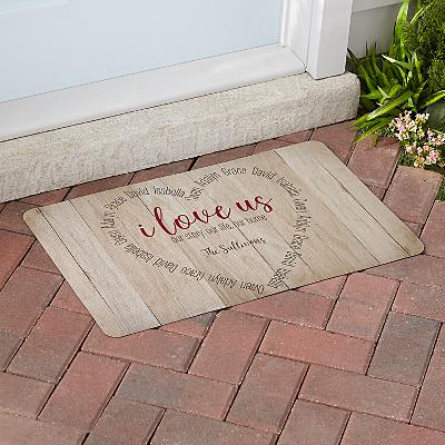 I Love Us Heart Doormat