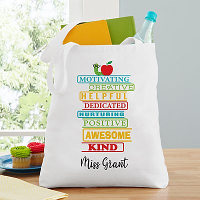 Teacher Traits Tote Bag