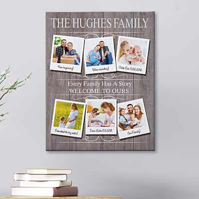 Through The Years Family Photo Canvas